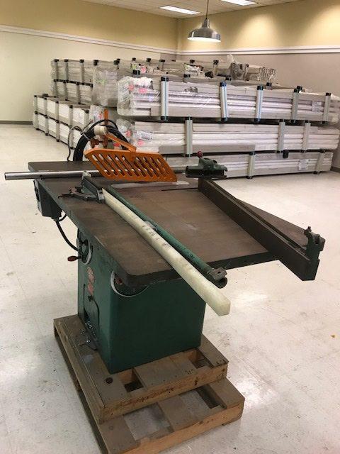 Powermatic Bosch Table Saw Vinyl Window Equipment